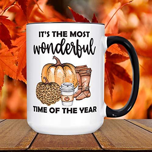 Fall Koffie Mok Herfst Vakantie Keramische Cup Laarzen Koffie Luipaard Print Pompoen Halloween Thanksgiving Mok