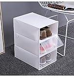GSDJU Caja de Zapatos Transparente Engrosada Tipo de cajón de almeja artefacto de Almacenamiento en el hogar gabinete de Zapatos de plástico Almacenamiento en casa Todos los días