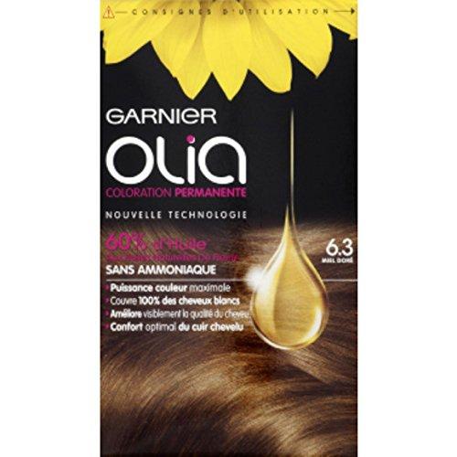Garnier - Olia - 6.3 Miel doré, Coloration permanente, Sans ammoniaque - La boîte de 174ml - (pour la quantité plus que 1 nous vous remboursons le port supplémentaire)