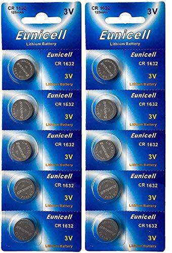 Energy01 CR1632 1632 DL1632 - Pilas de litio (3 V, 125 mAh, 10 unidades)