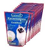 Catwell, 10 x Litière en silicate pour chats | granulés 100% biodégradable | neutralise les odeurs | convient aux personnes allergiques