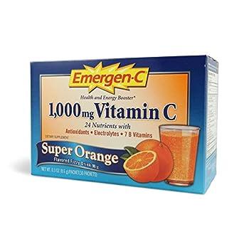 Alacer Emergen C Super Orange 0.32 Ounce 30 Pack
