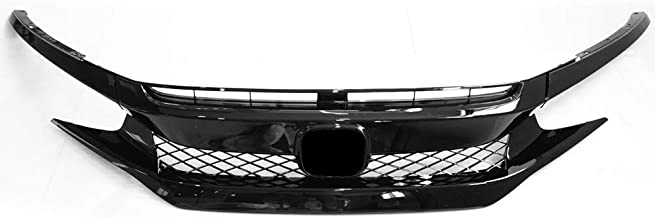 2016 honda civic black grill