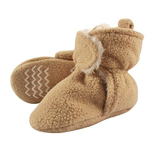 Meckior Newborn Infant Baby Girls Boys Sequin Canvas Sneakers Soft Anti-Slip Sole High Top Ankle Unisex Toddler First Walking Prewalker Crib Denim Shoes D/Brown