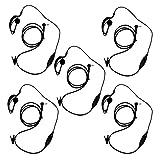 KEESIN G Forma de Clip Auriculares/Mic del Auricular para Motorola Talkabout 2 Radio de Dos vías walkie Talkie 1 Pines 100-0 (5 Piezas)