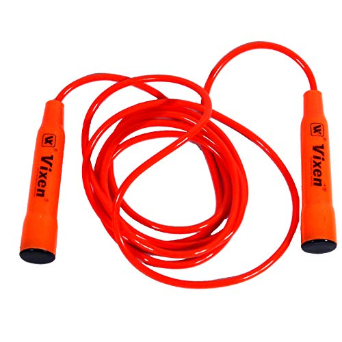 Vixen Skipping Rope | for Gym Training, Exercise and Workout |PVC Skipping Rope|10 Foot Length Jump Rope | Red Color
