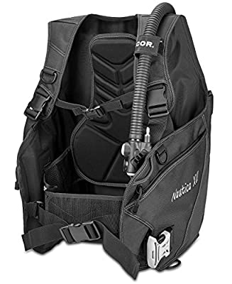 Dacor Nautica XVI Weight Integrated BCD Buoyancy Compensator, Black, Medium