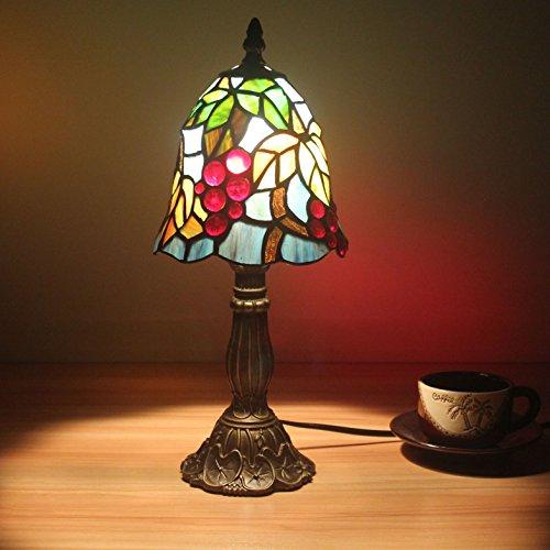 HDO - Lámpara para mesita de noche, mesa de noche, mesa de escritorio, salón, bar, diseño de uvas