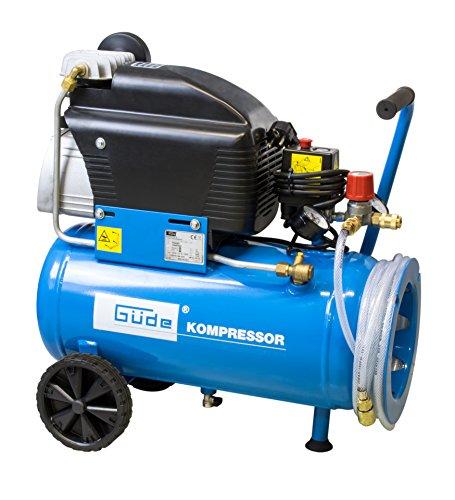 Güde 71167 260/10/24 ST compressor (1800W, 175l/m leverhoeveelheid, 2 manometer, 2 persluchtkoppelingen, 24l ketel)