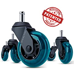 U.S. UTILITY PATENT: caster system for moving furniture. STEALTHO INNOVATIVE WHEELS - 920% CROWDFUNDED ON KICKSTARTER: Brand new office chair caster wheels from STEALTHO with the totally reconsidered design. NO CHAIR MATS NEEDED - SAFE FOR ALL FLOORS...