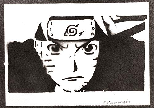 Póster Naruto Grafiti Hecho a Mano - Handmade Street Art - Artwork