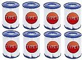 LXTOPN – Juego de 8 filtros de piscina de tipo II para Bestway – Cartucho de filtro de piscina de tipo II – Inflatable Pool Filter for Family Pool Cleaning Filter Accessories (8 piezas)