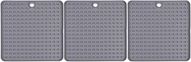YARNOW 3 Pcs Silicone Trivet Pot Mat Non Slip Countertop Hot Dish Pads Pot Holders Heat Resistant Coasters Table Placemats...