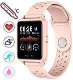 Hlan Fitness-Tracker-Uhr mit Herzfrequenz- und...