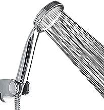 Alcachofa de ducha de alta calidad para mejorar la presi/ón del agua para el ba/ño con agujero de ahorro de ABS cromado