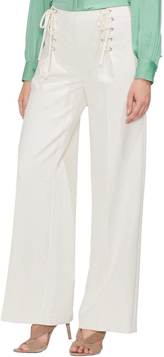 VINCE CAMUTO Women's Lace-up Wide Leg Casual Pants