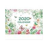 XinYuan 2020 Kalender Aquarell-Tier Deer Schreibtisch-Organisator Fahrplan-Plan notiz, Familie, Schule (Color : B)