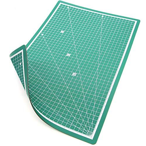 PRETEX Base de Corte Doble Cara, 45 x 30 cm (A3) en Verde con Superficie autoreparativa, autocurativa | Cutting Mat, Tabla de Cortar