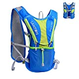 LANZON 2L Hydration Pack (NO Bladder), Marathon Running Vest, Hiking Cycling Backpack (2L Hydration Vest (NO Bladder) - Blue)