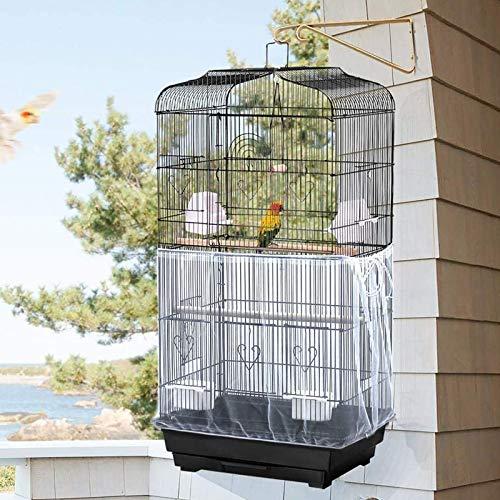 NXL 2 Piezas Funda De Malla Ligera para Jaulas De Pájaros De Uso Confiable, Cubierta De Jaula De Pájaros Aireada, Material De Poliéster De Tela Aireada Conveniente