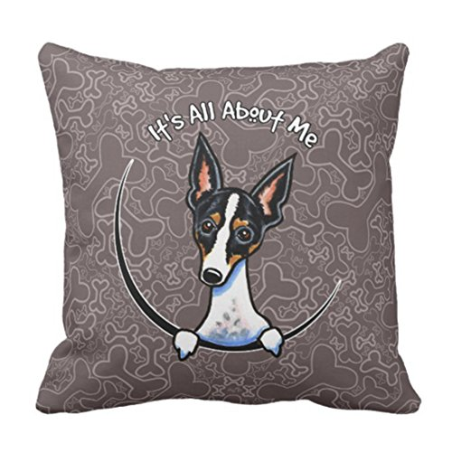 Emvency Throw Pillow Cover Funny Lover Tricolor Rat Terrier Cute Miniature Decorative Pillow Case...