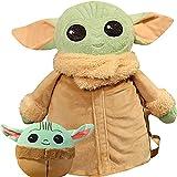 sohefia Baby Yoda Plush Toys Mochila Clip y elástico Yoda Ball Colgante Muñeca de Juguete para niños