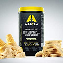 ARMA RELOAD is the only whey protein complex that utilizes Curcugreen Curcumin and BioPerine extract to rapidly deliver anti-inflammatories and antioxidants for post-workout recovery as well as provide a daily source of high-quality whey protein, MCT...