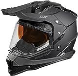 Castle X Mode Dual-Sport SV Snowmobile Helmet (LRG, Matte Black)