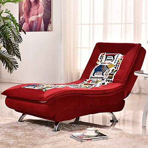 QSLS Relaxliege Wohnzimmer Liegesessel Modern Relaxsessel Liegestuhl Sofaliege Polsterliege,Super Soft red Pattern