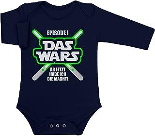 Shirtgeil DAS Wars, jetzt Habe ich die Macht - Baby Geschenk Fans Baby Langarm Body