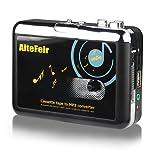 AiteFeir PC不要!日本語取扱説明書付き カセットテープ USB変換プレーヤー カセットテープデジタル化 MP3コンバーター カセットテープのプレーヤーとしても使えます。MP3の曲を自動分割!USBフラッシュメモリ保存!オートリバース機能 日本国内発送