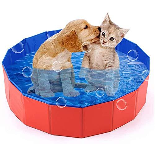 Boehner Piscina Plegable para Perro Cachorro Gatos Mascotas niños niños Bola Agua estanques de baño bañera