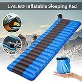 190X60x12cm Ultraligero Colchoneta Hinchable para Dormir De Aire Colchón De Camping Al Aire Libre Portátiles Impermeable Azul Dormir Pad