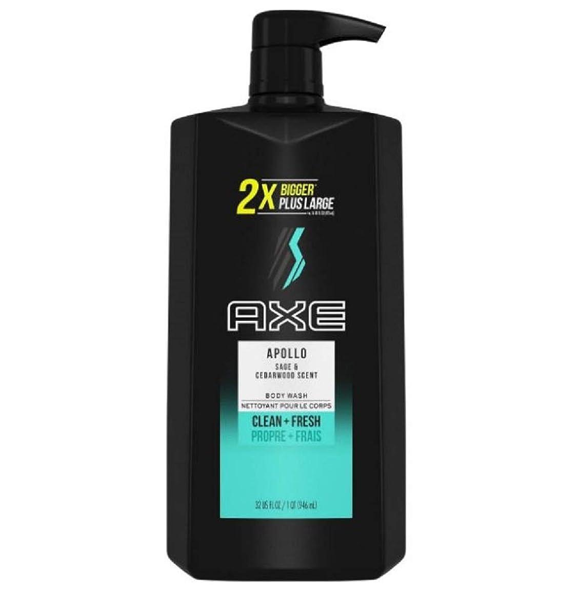 愛人廃止ネックレスAXE Apollo Body Wash with Pump - 32 oz アックス アポロ ボディウォッシュ ポンプタイプ 946 ml [並行輸入品]