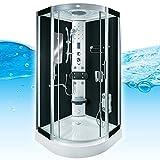 AcquaVapore DTP8046-0300 Dusche Duschtempel Komplett Duschkabine 80x80, EasyClean Versiegelung der...