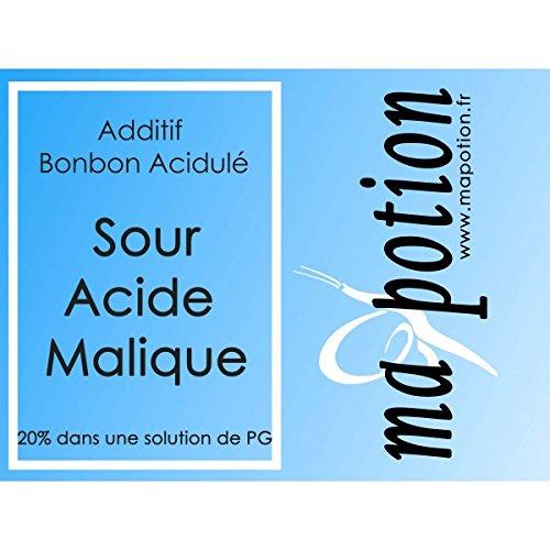 MA POTION - Additif Sour acide Malique 20% PG, acidulé, sucre acide, pour E-liquide Eliquide Sans nicotine ni tabac