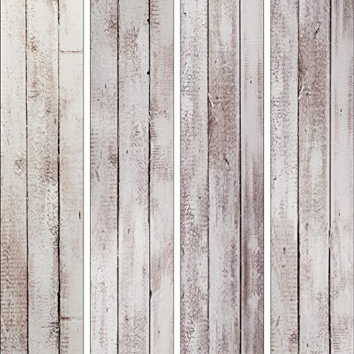 decomonkey PURO TAPETE selbstklebend | 10 m Tapete 3D Wandaufkleber – Dekofolie (Klebefolie) Möbelfolie Panel Wandtattoo Wandposter Wandsticker Bretter Holzoptik Holz