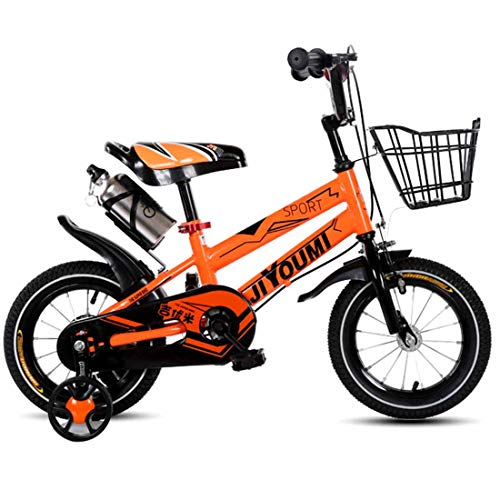 MUYU 12(14,16,18) Inch Kids Bike voor 3-10 Jaar Oude Kids Fiets met Front Basket & Training Wielen