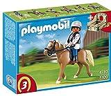 PLAYMOBIL - Haflinger con establo, Color Verde y Beis (5109)