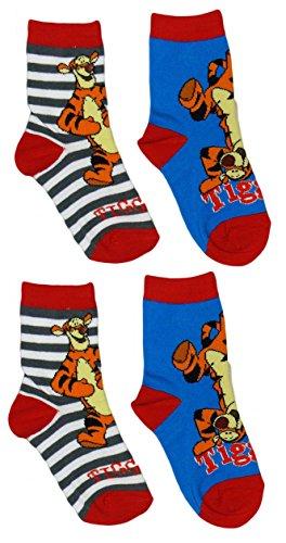 Calcetines de Winnie Pooh con Tiger, pack de 5 - 19/22
