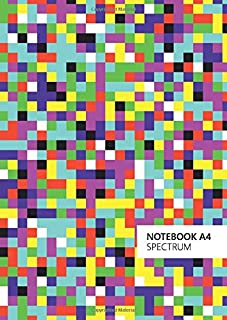 Spectrum Notebook - A4: (Original Edition) Fun notebook 192 lined pages (A4 / 8.27x11.69 inches / 21x29.7cm)