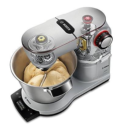Bosch-MUM9DT5S41-OptiMUM-Kuechenmaschine-1500-W-3-Profi-Ruehrwerkzeuge-Edelstahl-spuelmaschinenfest-Automatikprogramm-55-Liter-Teigmenge-35kg-Durchlaufschnitzler-5-Scheiben-Mixer-silber