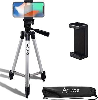 Acuvar 127 cm (50 Zoll) Aluminium Kamerastativ und Universal Smartphone Halterung + Mikrofasertuch