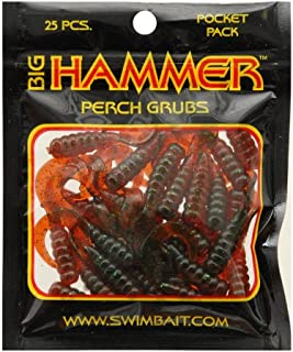 Best Big Hammer Perch Grub Bait, Motor Oil Green, 1-3/4-Inch Review
