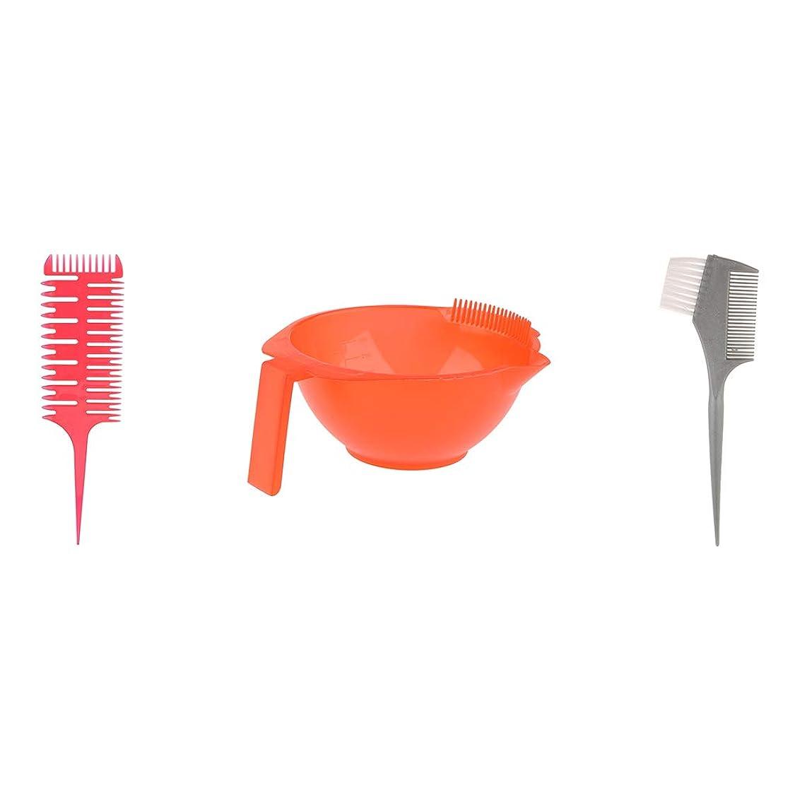 料理をする歌無へアカラーセット ブラシボウル付き ヘアダイブラシ DIY髪染め用 サロン 美髪師用 ヘアカラーの用具