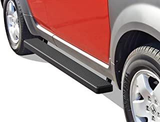 APS iBoard Running Boards (Nerf Bars Side Steps Step Bars) Compatible with 2003-2011 Honda Element Sport Utility 4-Door (Exclude SC Model) (Black Powder Coated 5 inches)