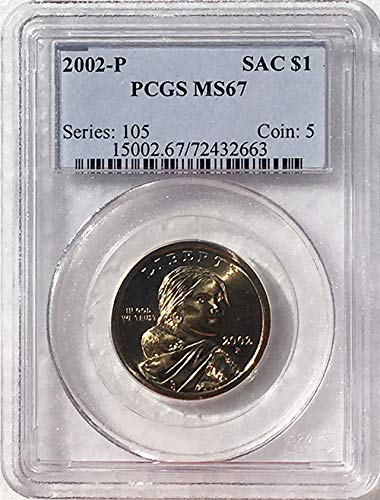 2002 P Sacagawea Dollar MS 67 Blue Label PCGS