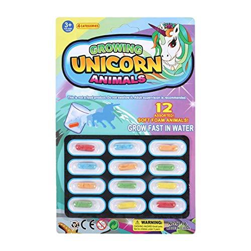 Juguetes para niños Cápsulas de Crecimiento mágico, Varias Formas de Animales, Juguetes pequeños Que se sumergen en Agua