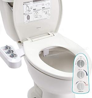 Hibbent Bidés, Ducha-bidé de WC con agua caliente para la higiene íntima Boquilla de autolimpieza - Accesorio de WC de bidé mecánico no eléctrico pulverizador de agua Caliente y fría(Conector 1/2'')
