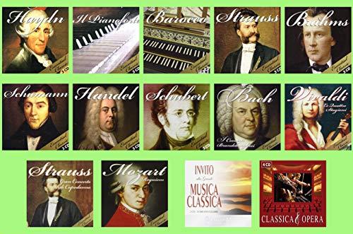 32 CD Musica Classica Collection - Vivaldi, Strauss, Bach, Mozart, Brahms, Handel, Schumann, Schubert, Haydn, Pianoforte, Opera